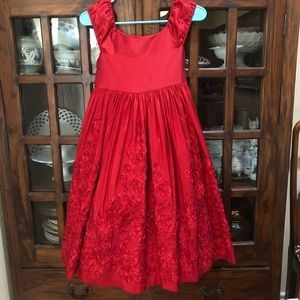 Red Dress Size 10 Pippa & Julie Lined w Tulle